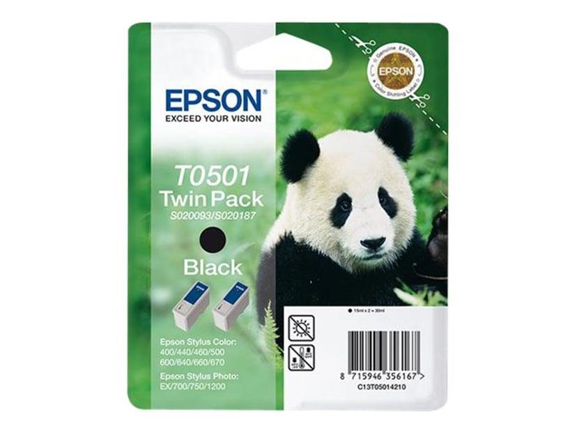 Epson Blæk Sort Twin pack - STYLUS 440/640/660/
