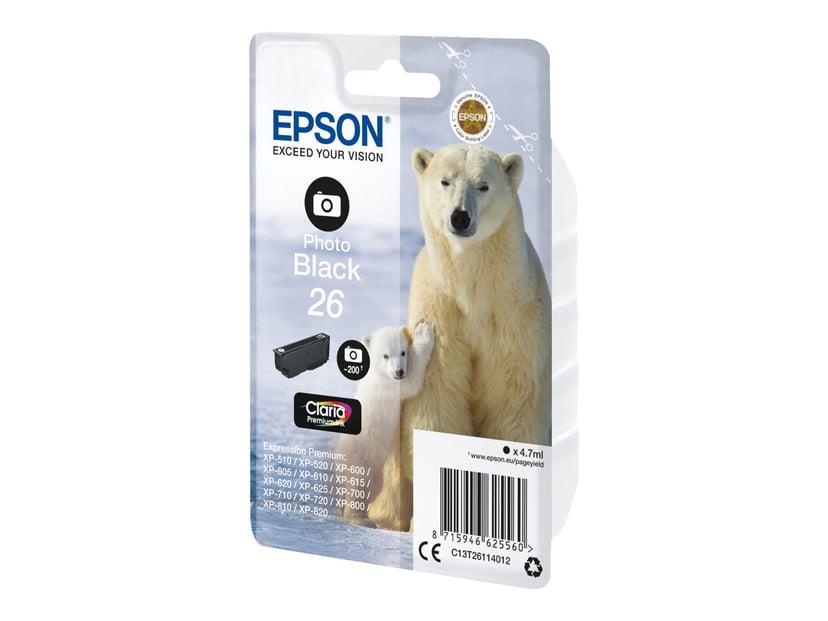 Epson Inkt Foto Zwart 26 Claria Premium