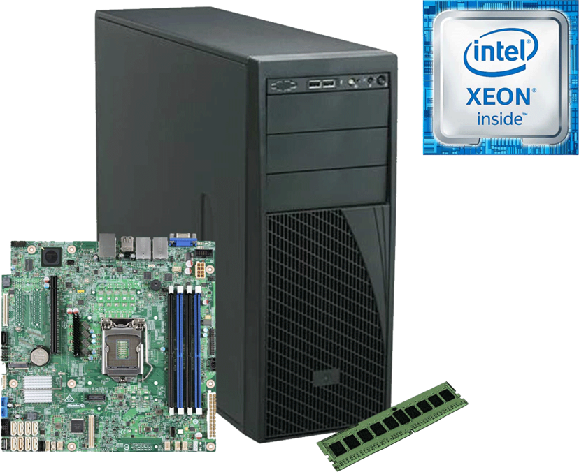 Intel Server Blocks LSVRP4304ES6XXR Xeon Fyrkärnig 16GB
