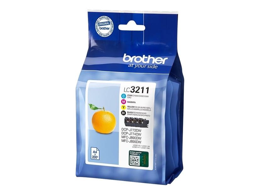 Brother Inkt Kit (BK/C/M/Y) LC-3211VALDR - DCP-J772DW/DCP-J774