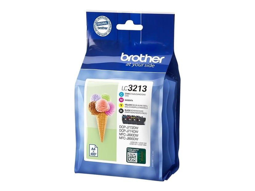 Brother Inkt Kit (BK/C/M/Y) LC-3213VALDR - DCP-J772DW/DCP-J774