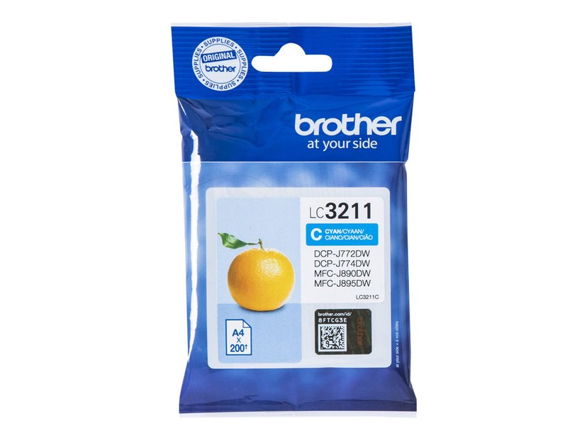 Brother Inkt Cyaan LC-3211C - DCP-J772DW/DCP-J774DW