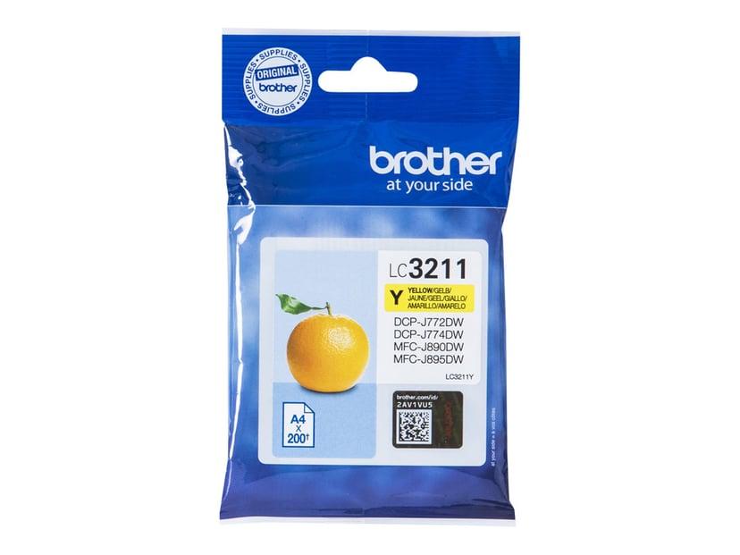 Brother Bläck Gul LC-3211Y - DCP-J772DW/DCP-J774DW