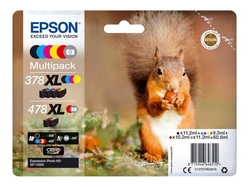 Epson Inkt Multipack 378Xl/478Xl (BK/GU/C/M/Y/R) - XP-15000