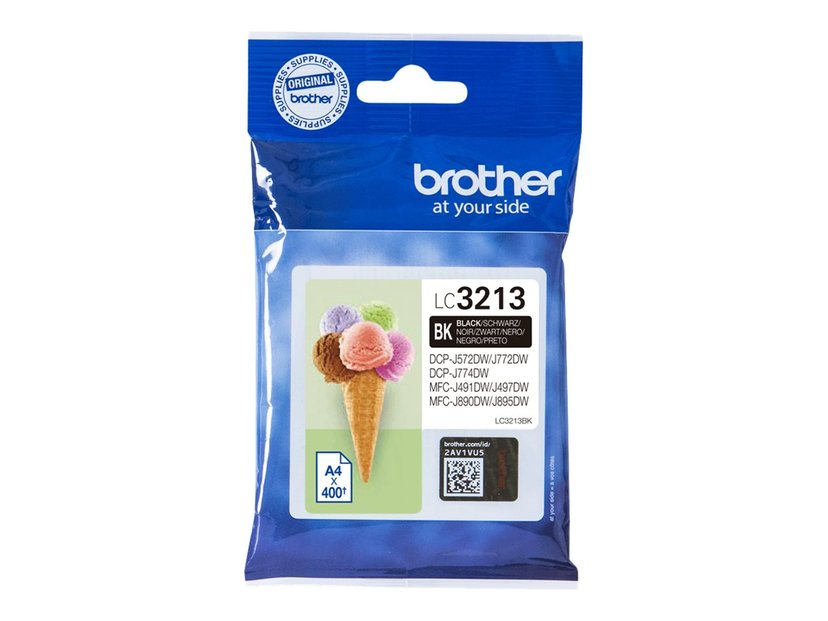 Brother Bläck Svart LC-3213BK - DCP-J772DW/DCP-J774DW