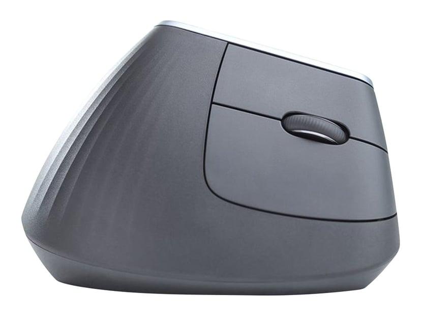 Logitech MX Vertical Zwart Verticale muis Draadloos, Met bekabeling 4,000dpi