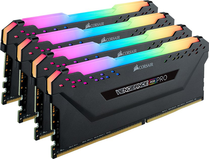 Corsair Vengeance RGB Pro 64GB 4X16GB DDR4 3000MHz CL15 Blac 64GB 3,000MHz DDR4 SDRAM DIMM 288-pin