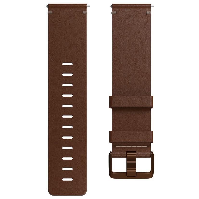Fitbit Armbånd Large Skinn Cognac - Versa