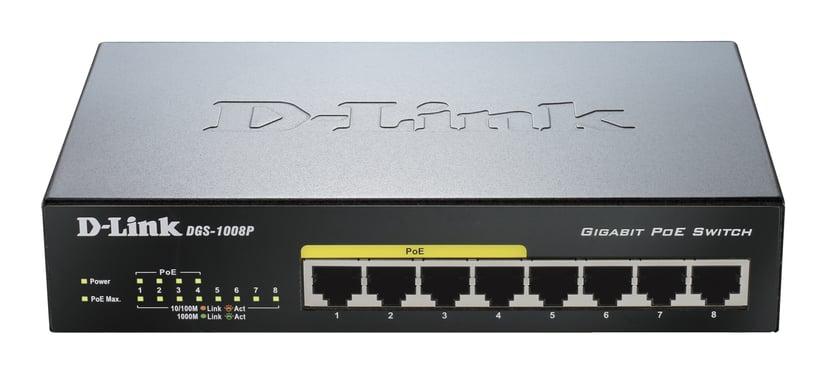 D-Link DGS-1008P 8-Port PoE Gigabit Desktop Switch