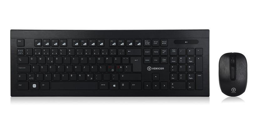 Voxicon Wireless Keyboard And Mice 220Wl Nordiska länderna