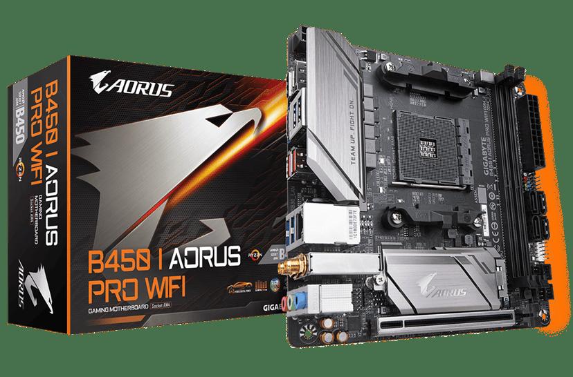 Gigabyte B450 Aorus I Pro WiFi S-AM4 M-ITX Mini ITX