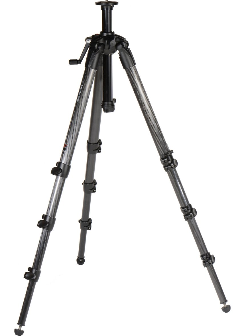 Manfrotto 057 Carbon Fibre 4 Section Tripod with Crank