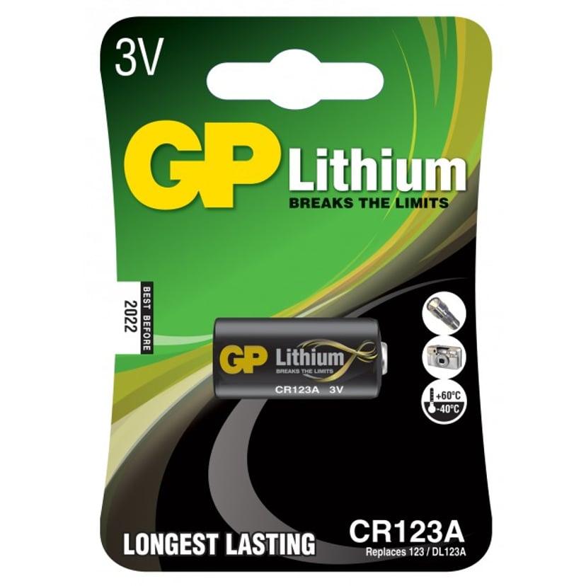 GP Battery Lithium CR123A-C1 3V