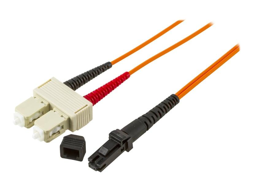 Deltaco Nettverkskabel SC/PC MT-RJ OM1 2m