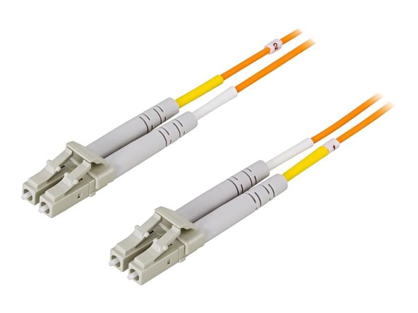 Deltaco Nätverkskabel LC/UPC LC/UPC OM1 15m