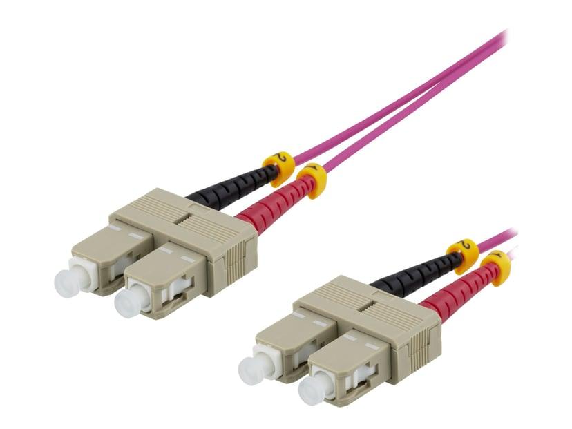 Deltaco Patch-kabel SC/UPC SC/UPC OM4 1m