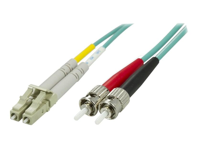 Deltaco Nettverkskabel ST/PC LC/PC OM3 5m