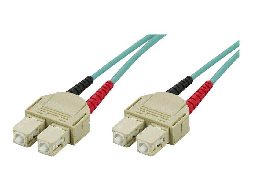 Deltaco Nettverkskabel SC/UPC SC/UPC OM3 3m