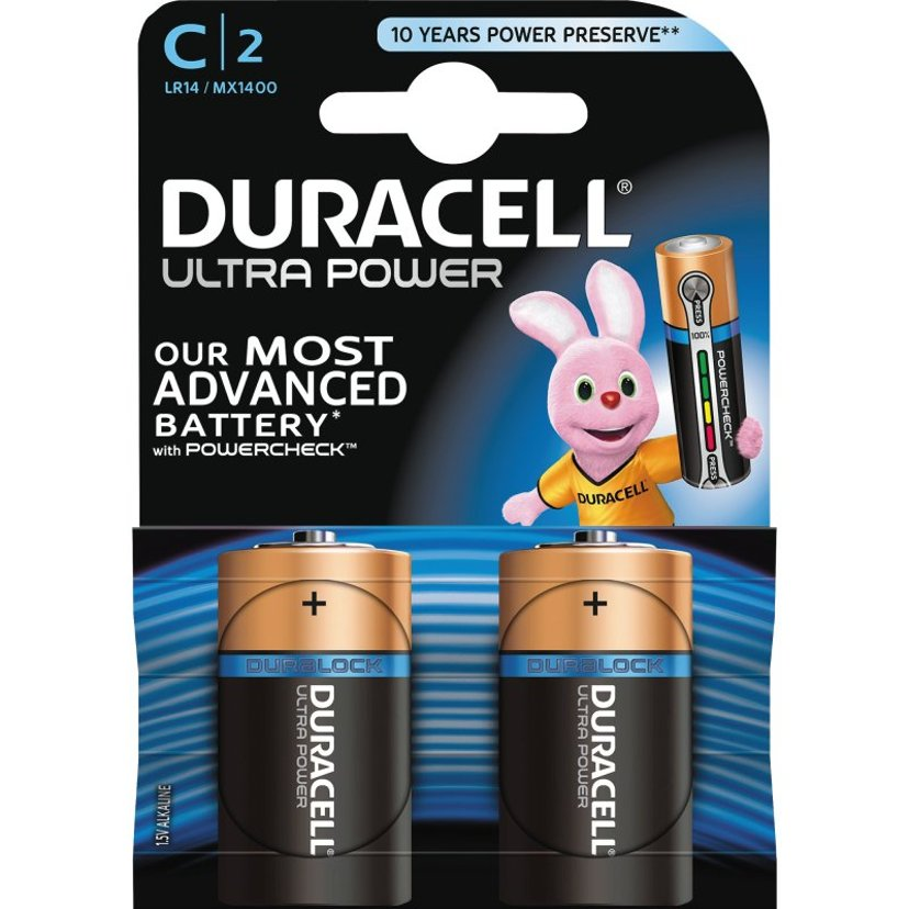 Duracell Batteri Ultra Power C 2st