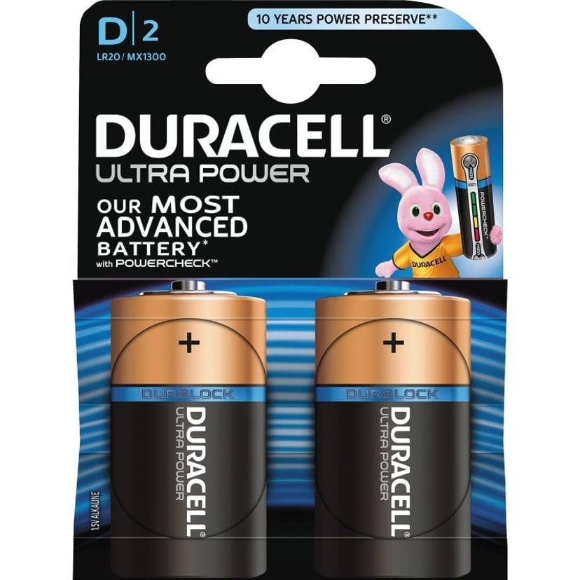 Duracell Battery Ultra Power D-Type 2pcs