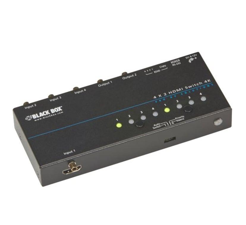 Black Box 4K HDMI Matrix Switch 4 x 2