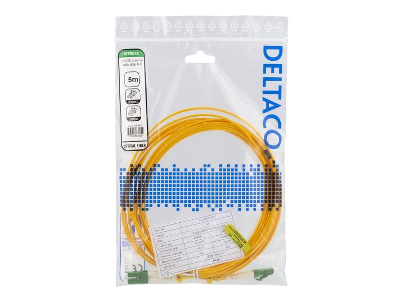 Deltaco Nettverkskabel LC/APC LC/APC OS2 5m