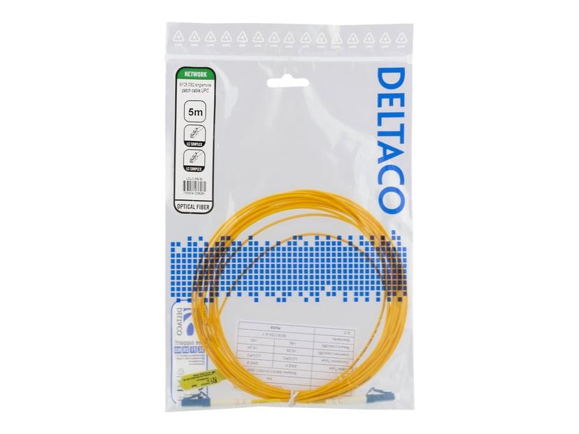 Deltaco Nätverkskabel LC/UPC LC/UPC OS2 5m