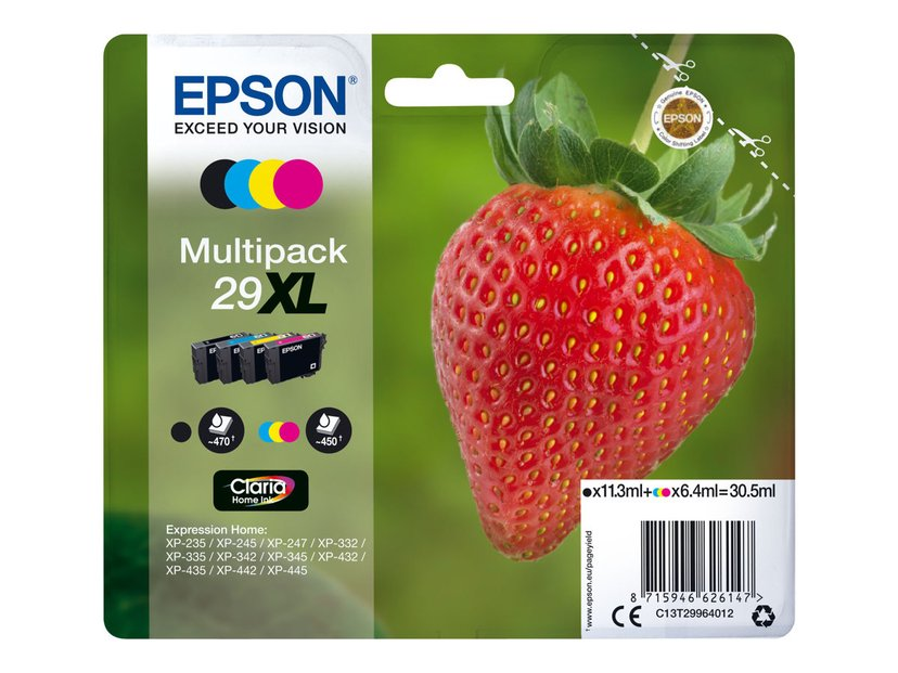 Epson Bläck Multipack (B/C/M/Y) 29Xl Claria - XP-332
