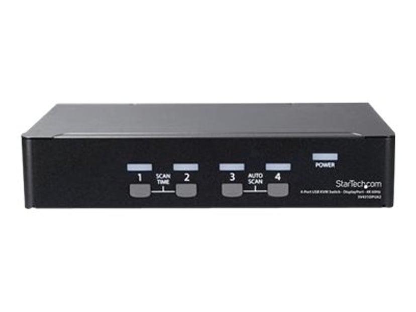 Startech 4 Port DisplayPort KVM Switch with 4K 60Hz
