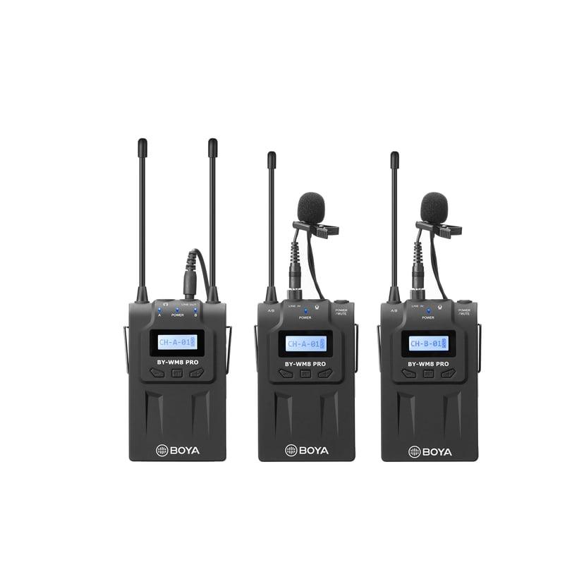 Boya Pro-K2 1x Wireless Receiver + 2x Transmitter + 2x Microphone Svart