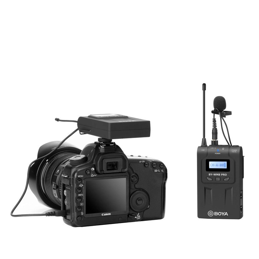 Boya Pro-K2 1x Wireless Receiver + 2x Transmitter + 2x Microphone Musta
