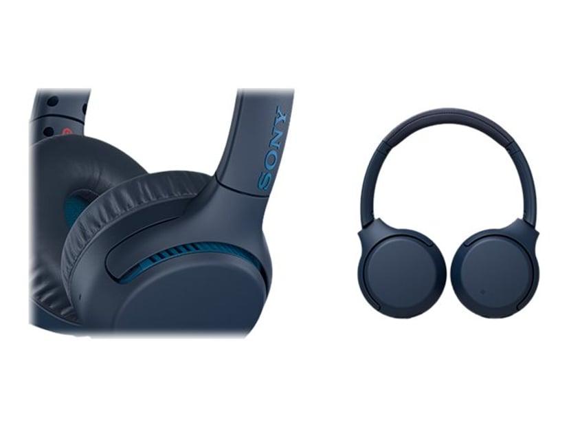 Sony WH-XB700 trådlösa hörlurar med mikrofon Blå