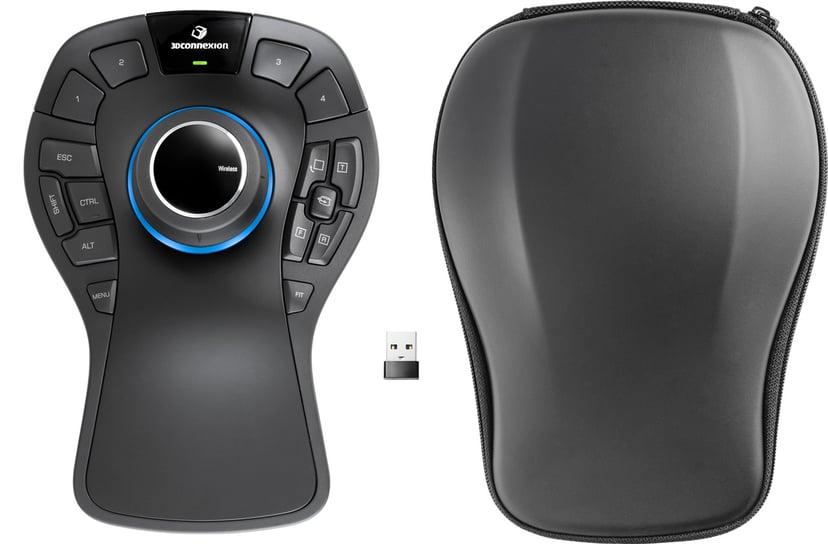 3DConnexion SpaceMouse Pro Wireless 3D-mus Trådløs Svart
