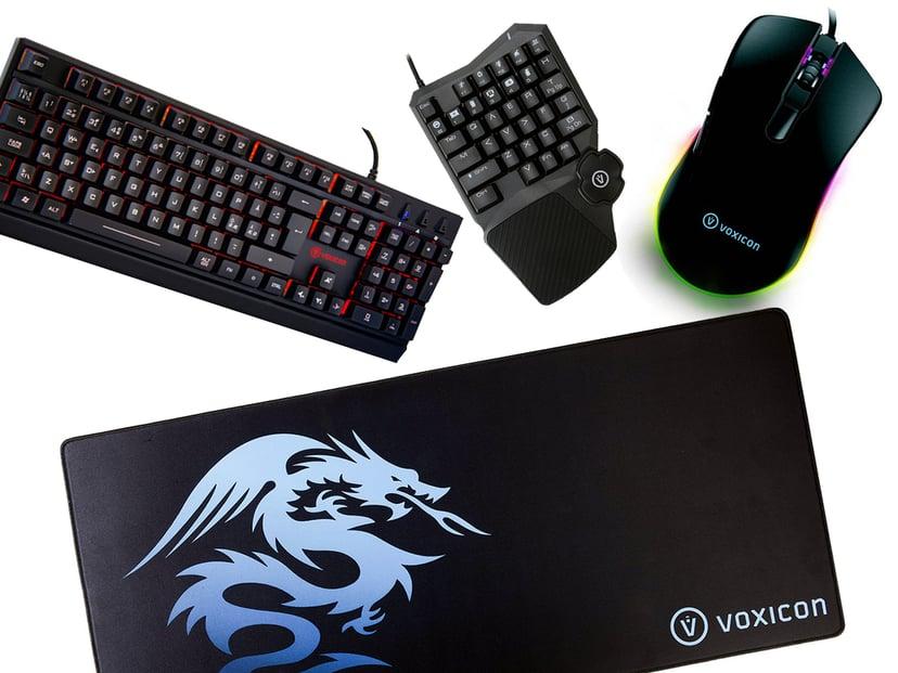 Voxicon Gaming Kit Professional Tangentbord Kabelansluten Nordiska länderna Svart