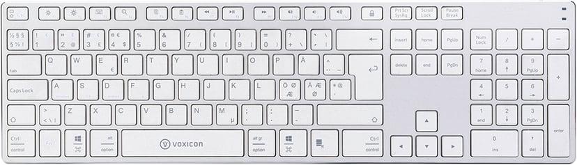 Voxicon BT 290 Trådløs Tastatur Nordisk Hvit; Sølv