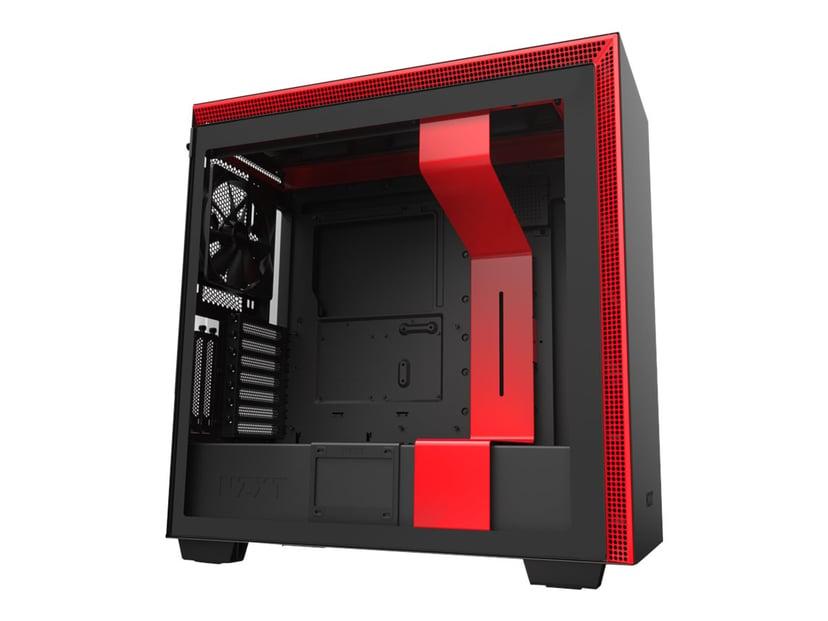 NZXT H series H710i Röd; Svart