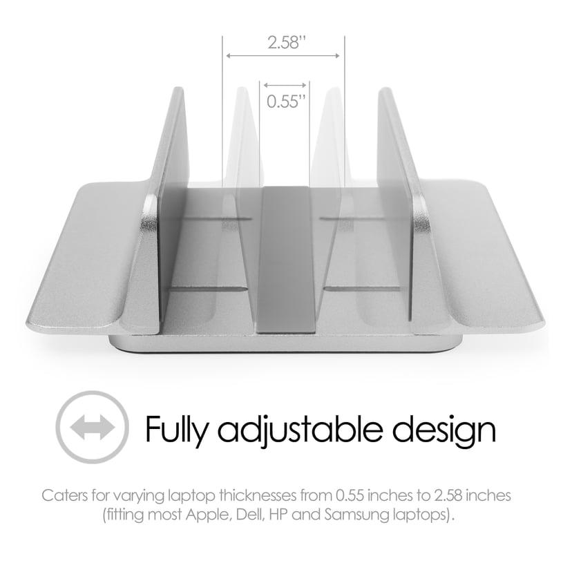 Desire2 Bordsställ Justerbar Aluminium Silver - Mac/Ultrabooks