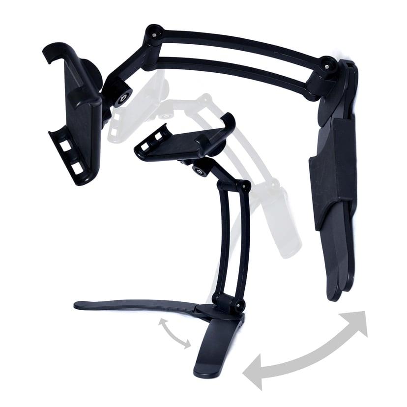 Desire2 Tablet/Mobilstander Lang Arm Bord/Vægholder 2i1 Sort