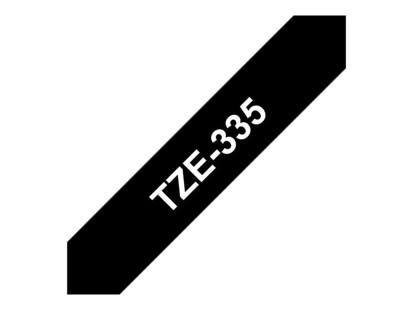 Brother Tape TZE-335 12mm Hvit/Svart