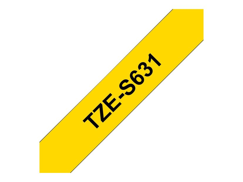 Brother Tape TZe-S631 12mm Black/Yellow Extra Strong