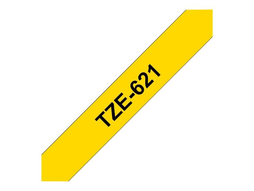 Brother Tape TZe-621 9mm Svart/Gul