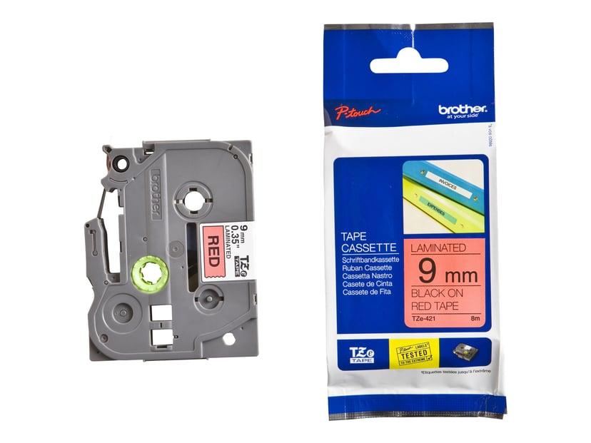 Brother Tape TZE-421 9mm Sort/Röd