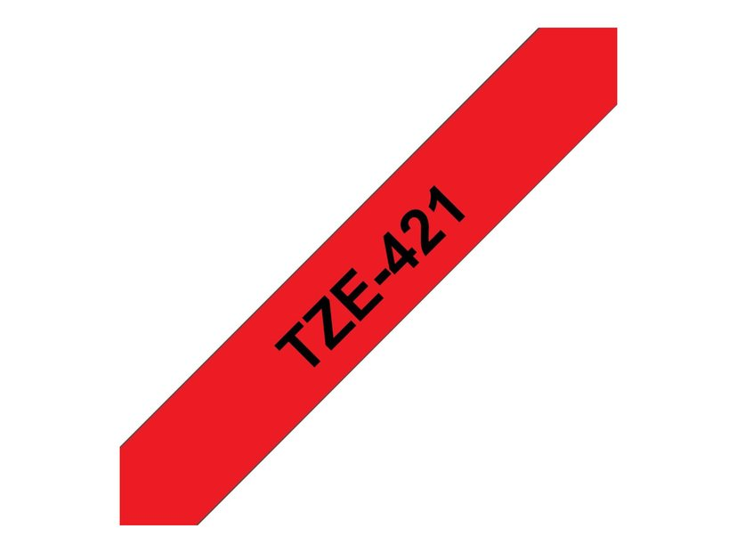 Brother Tape TZE-421 9mm Svart/Röd