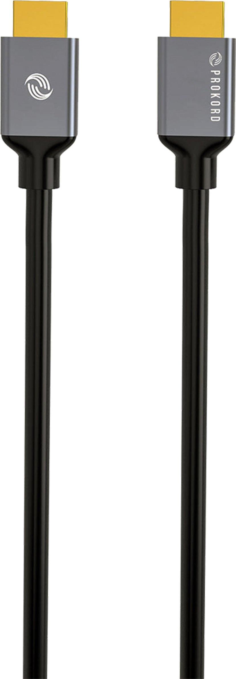 Prokord Black HDMI 2.0 1.0m 1m HDMI Hann HDMI Hann
