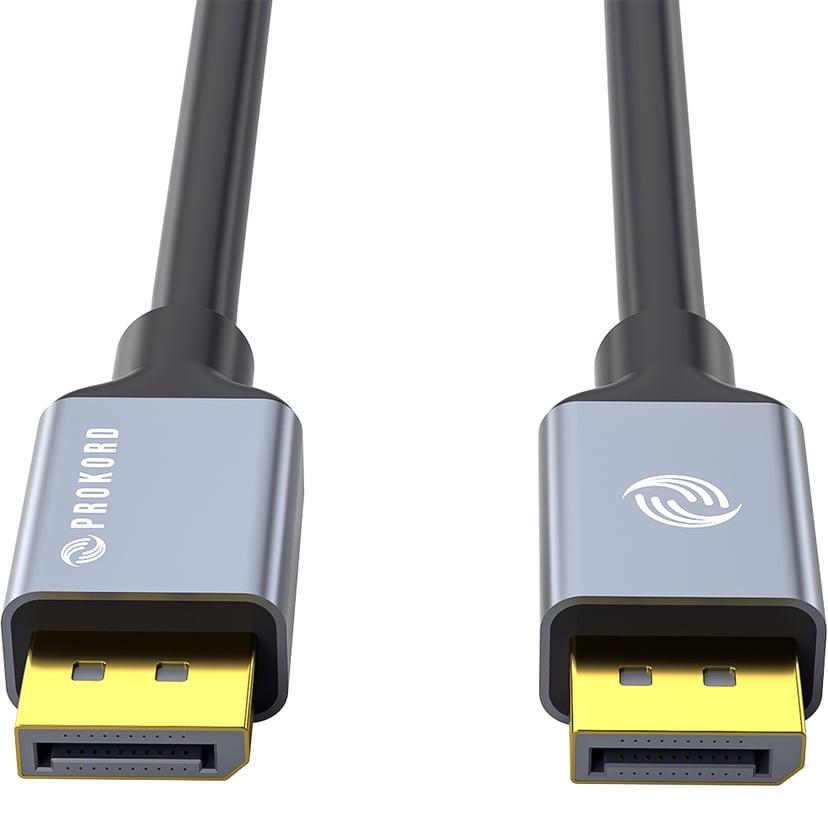 Prokord Black DP 1.0m 1m DisplayPort Hann DisplayPort Hann