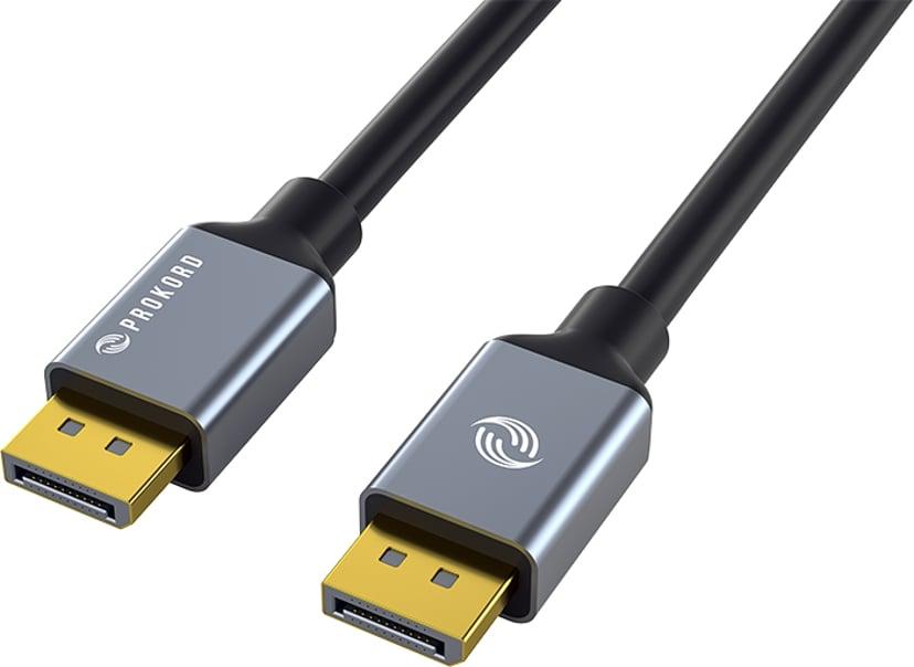 Prokord Black DP 5.0m 5m DisplayPort Hann DisplayPort Hann