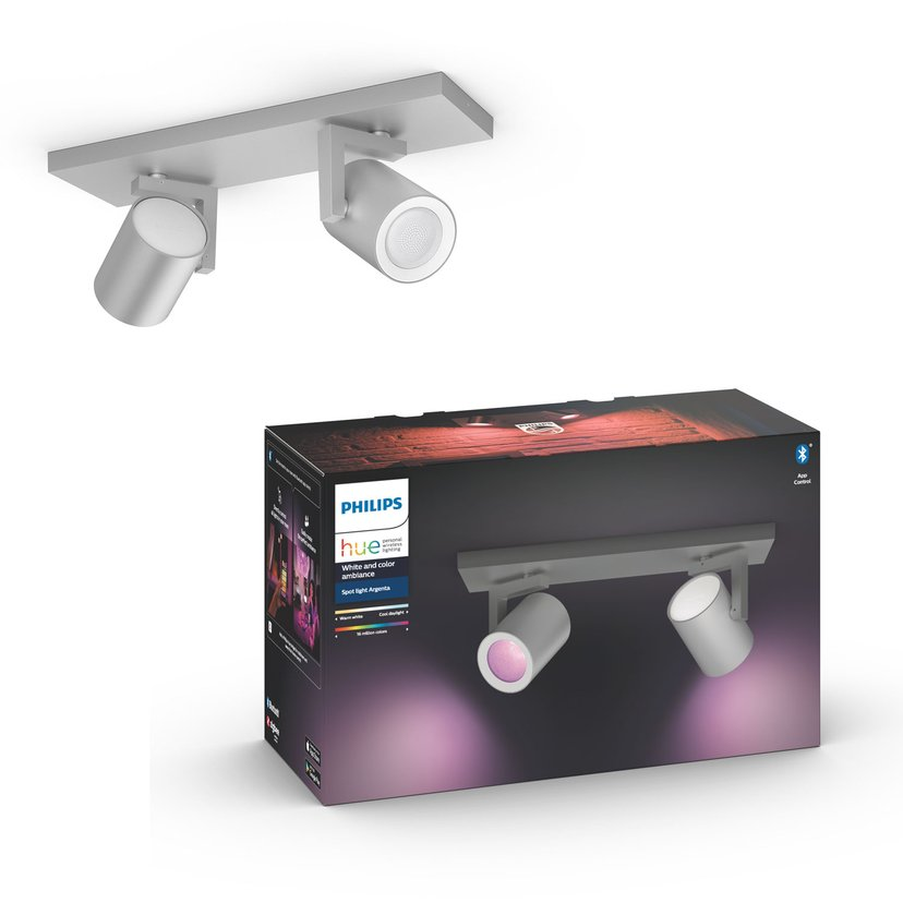 Philips Hue Argenta White/Color 2x5,7W Silver