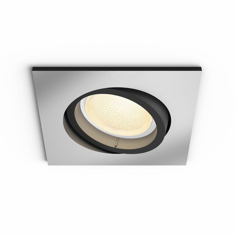 Philips Hue Centura White/Color Spot Kvadratisk Silver