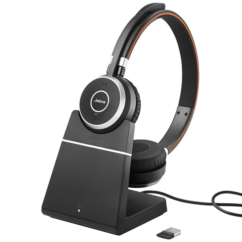 Jabra Evolve 65+ UC stereo + Chargning Stand