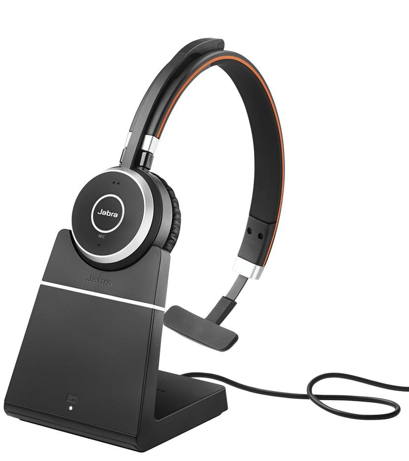 Jabra Evolve 65 UC Mono + Charging Stand Svart